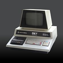 A Commodore PET 2001 model personal computer