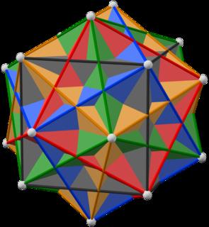 Compound of five cubes