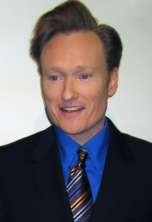 American comedian Conan O'Brien at