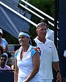 Conchita Martínez and Luke Jensen 2009 US Open 01.jpg