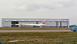 Cardiff Airport - Concorde outside British Airways Maintenance Cardiff (January 2002)
