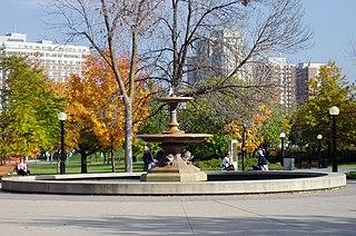 Confederation Park park in Ottawa, Ontario, Canada