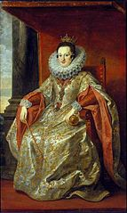 Portrait of Constance of Austria in coronation robes.