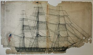 George Claghorn - Sailplan of Old Ironsides