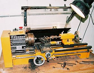 Machine factory - A lathe, a machine tool