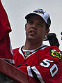 Corey Crawford Blackhawks Victory Parade 2010 (cropped).jpg