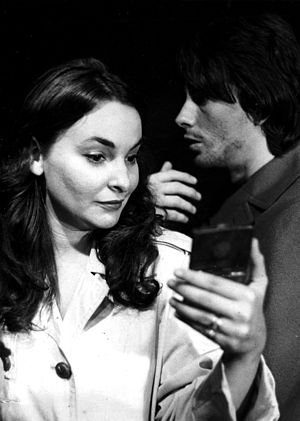 Corner Theatre ETC - Unknown actress (left) with Stanley Keyes in a production at the Corner Theatre ETC, 1971.