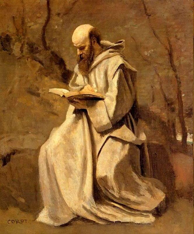 Corot Monk Reading Book 1