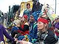 Courir de Mardi Gras Savoy, La wagon ride 2011.jpg