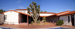 Walking Box Ranch - Image: Courtyard, Historic Walking Box Ranch House