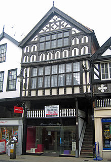 Cowper House Grade I listed shop in Chester, United Kingdom