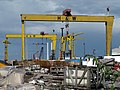 Cranes and construction site, Belfast - geograph.org.uk - 1402244.jpg