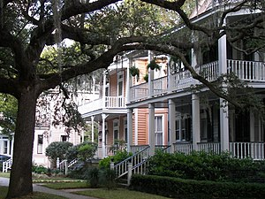 Beaufort, South Carolina - Homes in the Old Point neighborhood