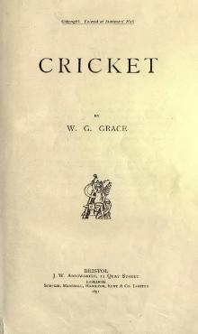 Cricket, by WG Grace.djvu
