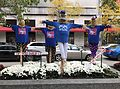 Cubs scarecrows on the Magnificent Mile in Chicago. (30051276254).jpg