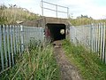 Culvert under a railway embankment, Thornhill - geograph.org.uk - 966819.jpg
