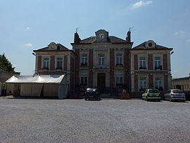 Curgies (Nord, Fr) mairie.JPG