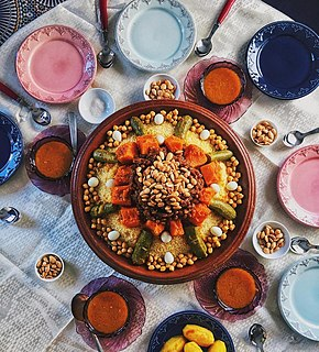 Couscous Traditional Maghrebi dish