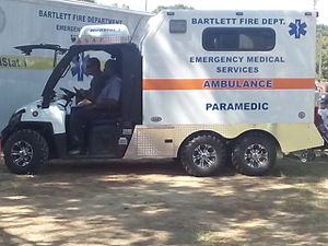 Polaris Industries - A Polaris Ranger modified as an Ambulance.