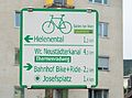 Cycling route sign, Baden.jpg
