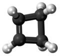 Cyclobutene molecule ball.png