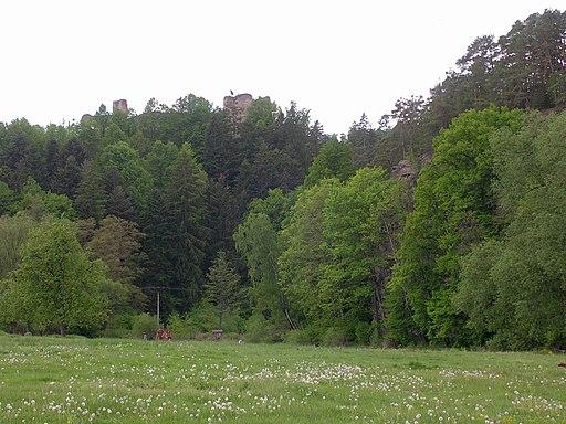 Dívčí kámen, z tábořiště