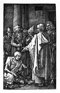 Dürer, Kupferstichpassion 16, Goldene Pforte