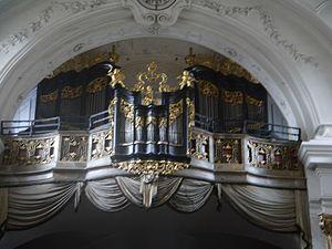 Dürnstein Stift Dürnstein Kirche Innen Orgel.JPG
