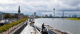 Panorama of the city of Duesseldorf.