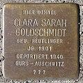 D-BW-ES-Kirchheim unter Teck - Stolperstein 'GOLDSCHMIDT, Clara Sarah'.jpg