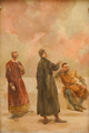 D. Dinis, João das Regras, e D. João II (1926) - Columbano Bordalo Pinheiro (Palácio de São Bento).png