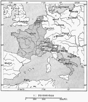 Sister republic - France and sister republics in 1798.