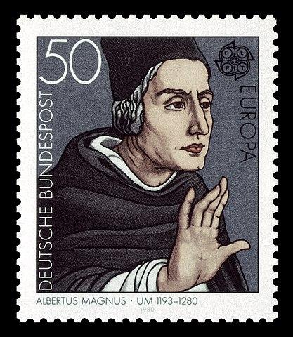 Почтовая марка ФРГ, посвящённая Альберту Великому, 1980, 50 пфенингов (Михель 1049)