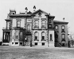 David Davis Mansion - David Davis Mansion—eastern side (c. 1940s)