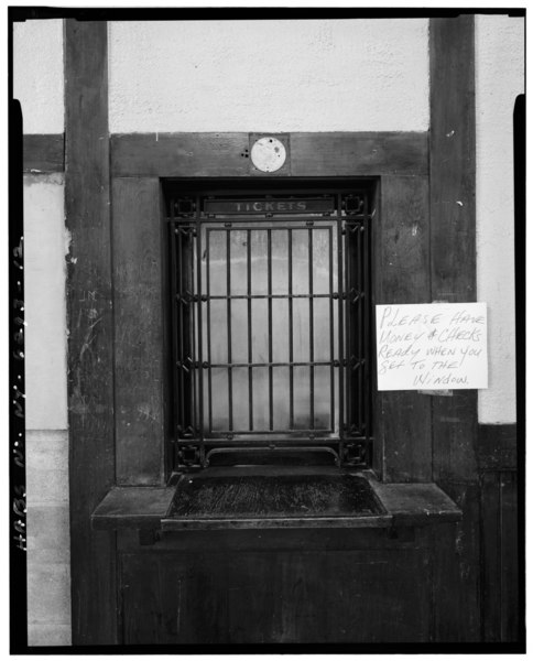 File:DETAIL (INTERIOR) OF TICKET WINDOW - Hartsdale Railroad Station, East Hartsdale Avenue, Hartsdale, Westchester County, NY HABS NY,60-HART,1-12.tif