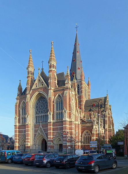 Notre-Dame Basilica in Dadizele, Belgium.