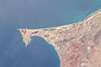 Dakar - View of Dakar from the International Space Station in 2011