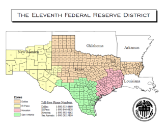 Federal Reserve Bank of Dallas - Map of the Eleventh District
