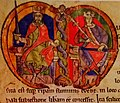 David I & Malcolm IV (Charter in Carlisle Castle).jpg