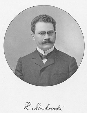 Minkowski space - Hermann Minkowski (1864–1909)  found that the theory of special relativity, introduced by his former student Albert Einstein, could be best understood as a four-dimensional space, since known as the Minkowski spacetime.