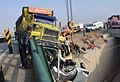Deadly Road 44 of Iran Traffic collision - Nishapur road to Mashhad - Peugeot 405 with 5 seater - Four of them died at once- Nomvember 20,2013 10.JPG