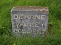 Dearne Valley Colliery marker stone - geograph.org.uk - 480743.jpg