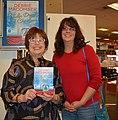 Debbie Macomber and Becky Velthuis 161203-N-SP496-002.jpg