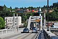 Deck of Oregon City Bridge - telephoto view towards OC (2013).jpg