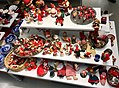 Decorative Santa nisse tomte figurines etc. (nissefigurer) Fretex (charity thrift shop) Lars Hilles gate, Bergen, Norway, 2017-11-01 a.jpg