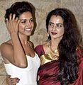 Deepika Padukone-Rekha at Ram-Leela screening.jpg