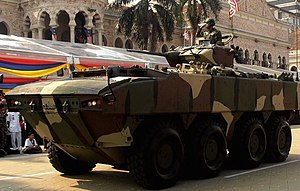 Eastern Sabah Security Zone - DefTech AV8 Gempita armoured vehicle. 12 units are currently deployed in Tawau