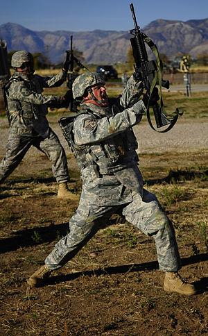 Airman Battle Uniform - Airmen wearing the Airman Battle Uniform