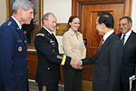 Defense.gov News Photo 111012-D-WQ296-059 - South Korean President Lee Myung-bak shakes hands with Chairman of the Joint Chiefs of Staff Gen. Martin E. Dempsey U.S. Army shortly after his.jpg