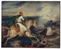 Delacroix - Szene aus dem griechischen Freiheitskrieg, um 1827.png